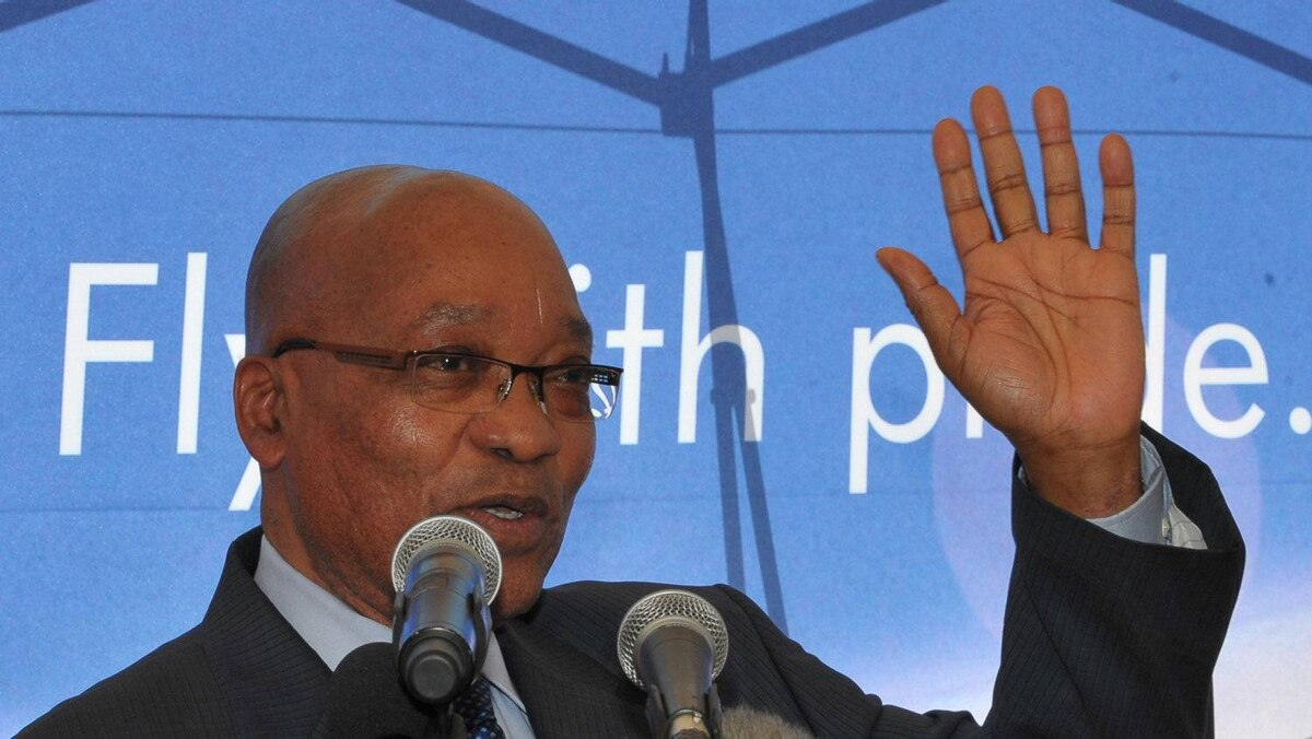 The government of South African President Jacob Zuma has withdrawn First Uranium's mining right for a reclamation project. ALEXANDER JOE/AFP/Getty Images