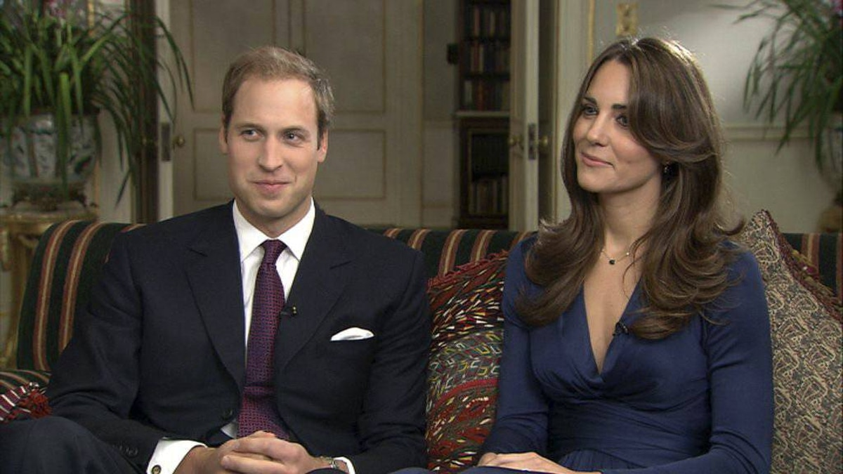 TOM BRADBY POLITICAL EDITOR, ITV NEWS interviews Prince William and fiancee Kate Middleton.