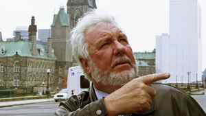 Contractor Bobby Watt leaves Parliament Hill after a news conference about West Block renovations on Oct.25, 2010.