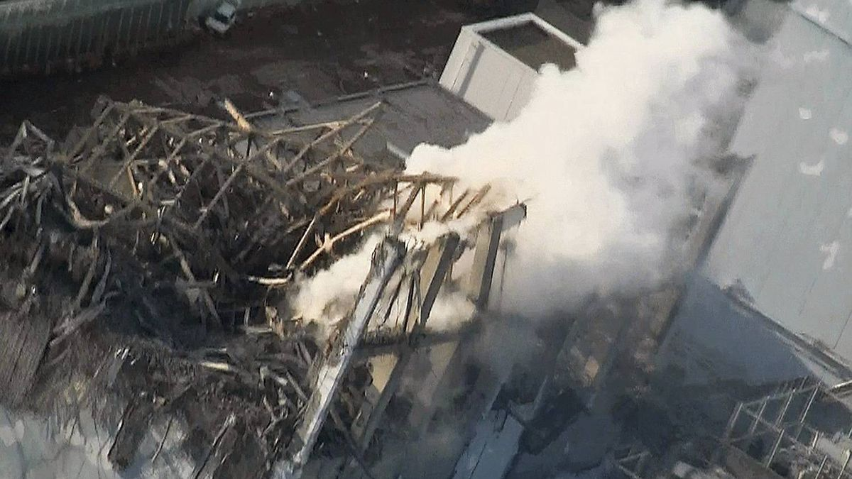 In this photo taken Wednesday, March 16, 2011 and released by Tokyo Electric Power Co. via Kyodo News Friday, smoke billows from wrecked unit 3 at Japan's crippled Fukushima Dai-ichi nuclear power plant in Okumamachi, Fukushima Prefecture.