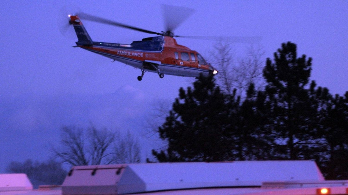 An air ambulance takes off in Mississauga, Ont. J.P. Moczulski/The Globe and Mail