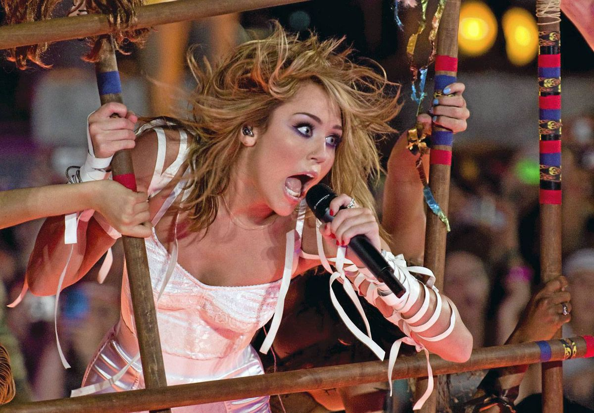 Miley Cyrus performs at the MuchMusic Video Awards in Toronto, Sunday June 20, 2010.