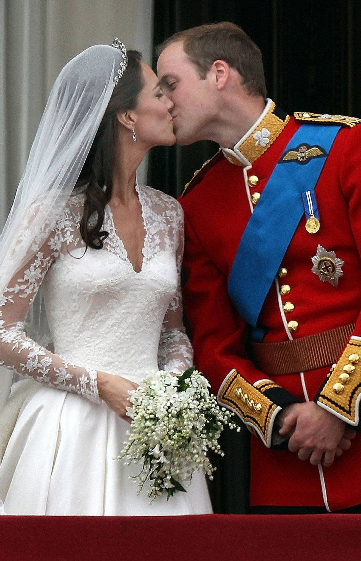 And before fans could finish their first pot of tea, the couple were married and kissing, politely. And everyone was happy.