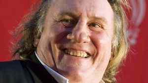 Gerard Depardieu poses on the red carpet during the opening ceremony of the Eurasia Film Festival in Almaty in 2010.