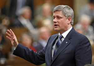 Prime Minister Stephen Harper responds to opposition attacks during Question Period in the House of Commons on Sept. 29, 2009.