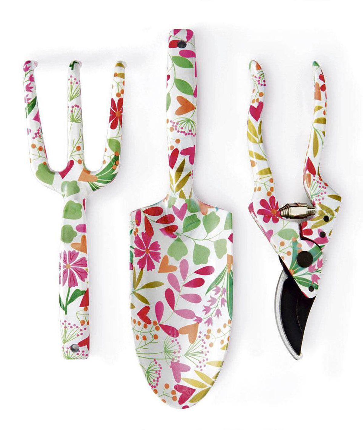 Flower-print gardening-tool set $16.99 at HomeSense (www.homesense.ca)