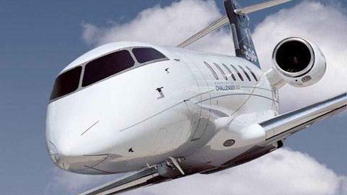 Bombardier Aerospace Challenger 300 jet.