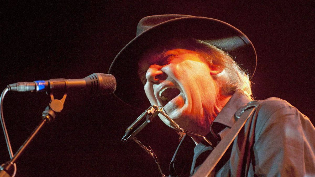 Neil Young performs onstage at the Robin Hood Annual Benefit, Monday, May 14, 2012, at the Javits Center in New York.