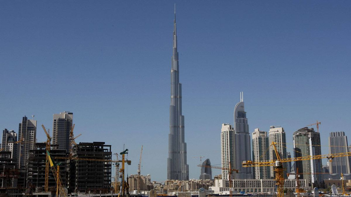 The world's tallest tower, Buj Khalifa is seen in Dubai, United Arab Emirates, Monday, Feb. 8, 2010.