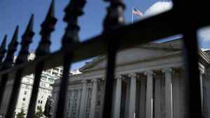The U.S. Treasury building in Washington, D.C. Federal Reserve chief Ben Bernanke last week sketched a gloomy picture of a stumbling U.S. recovery that will keep interest rates at rock-bottom levels well into 2014