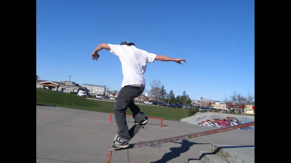 Vancouver Island skate park, circa 2007. Caught action shots by clicking a second or so before the image I wanted to get. Worked great.