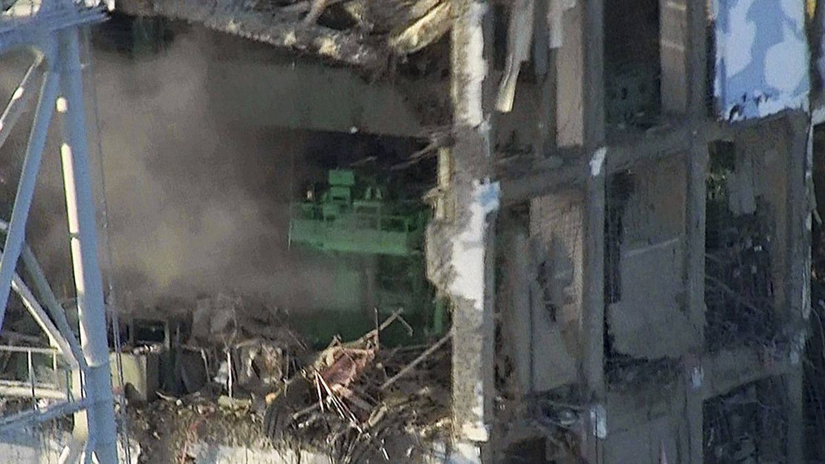 In this photo taken Wednesday, March 16, 2011 and released by Tokyo Electric Power Co. via Kyodo News Friday, smoke billows from wrecked unit 4 at Japan's crippled Fukushima Dai-ichi nuclear power plant in Okumamachi, Fukushima Prefecture.