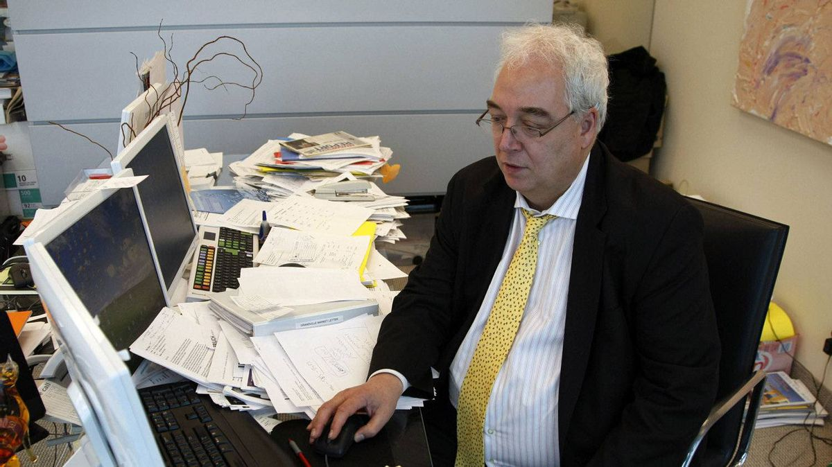Hedge fund manager Otto Spork at his office on Bay Street, Toronto.
