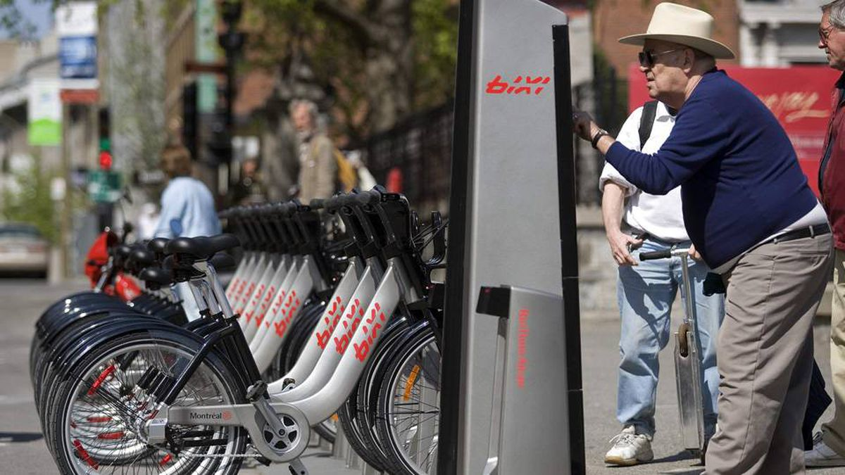 Montreal's Bixi program lets visitors rent a bike for an hour or a day.