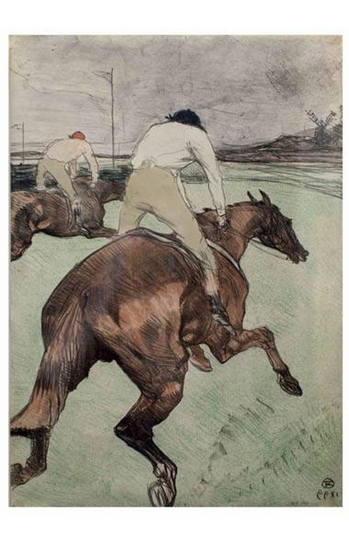 'Le Jockey' by artist Toulouse-Lautrec. Part of a collection of rare and valuable posters gifted to the AGO, photographed on February 18, 2011.