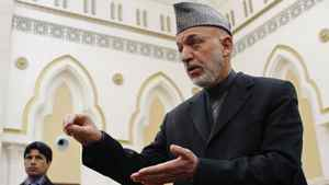 Afghan President Hamid Karzai speaks during a news conference in Kabul.