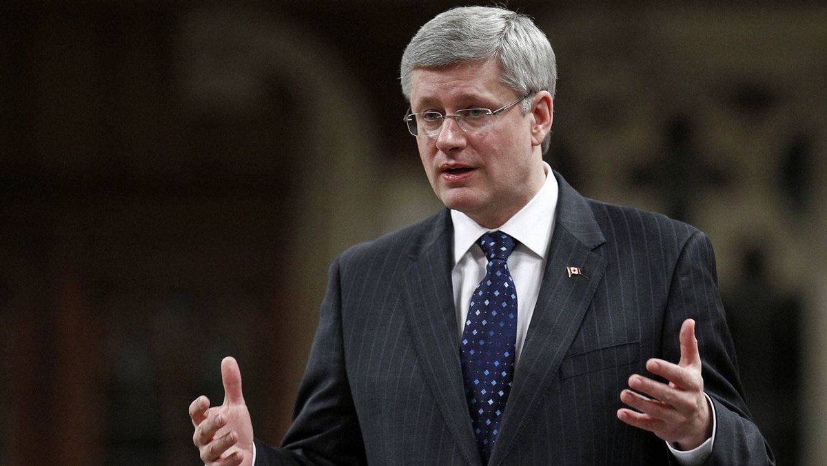 Prime Minister Stephen Harper speaks during Question Period in the House of Commons on March 7, 2012.