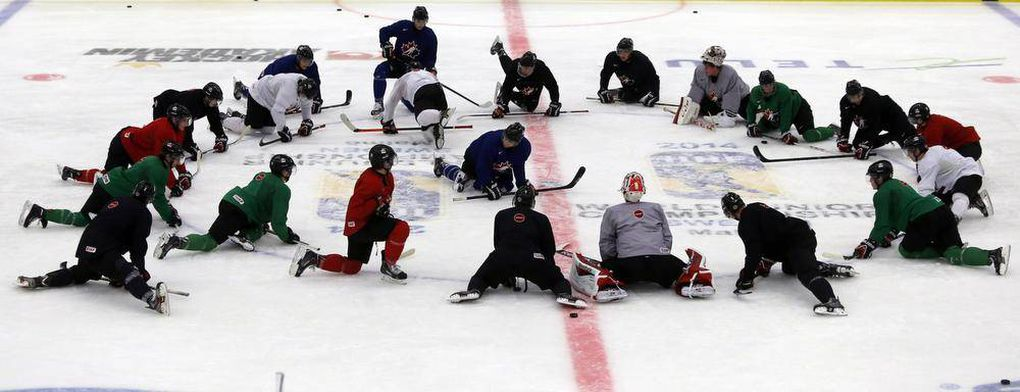 Images from Team Canada's world junior hockey practice on Sunday