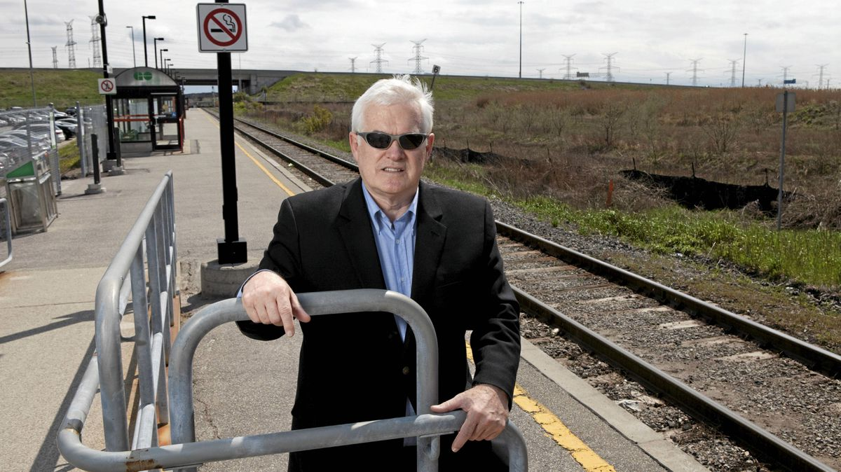 Markham councillor Jim Jones poses for a photograph at the Unionville GO Station in Markham
