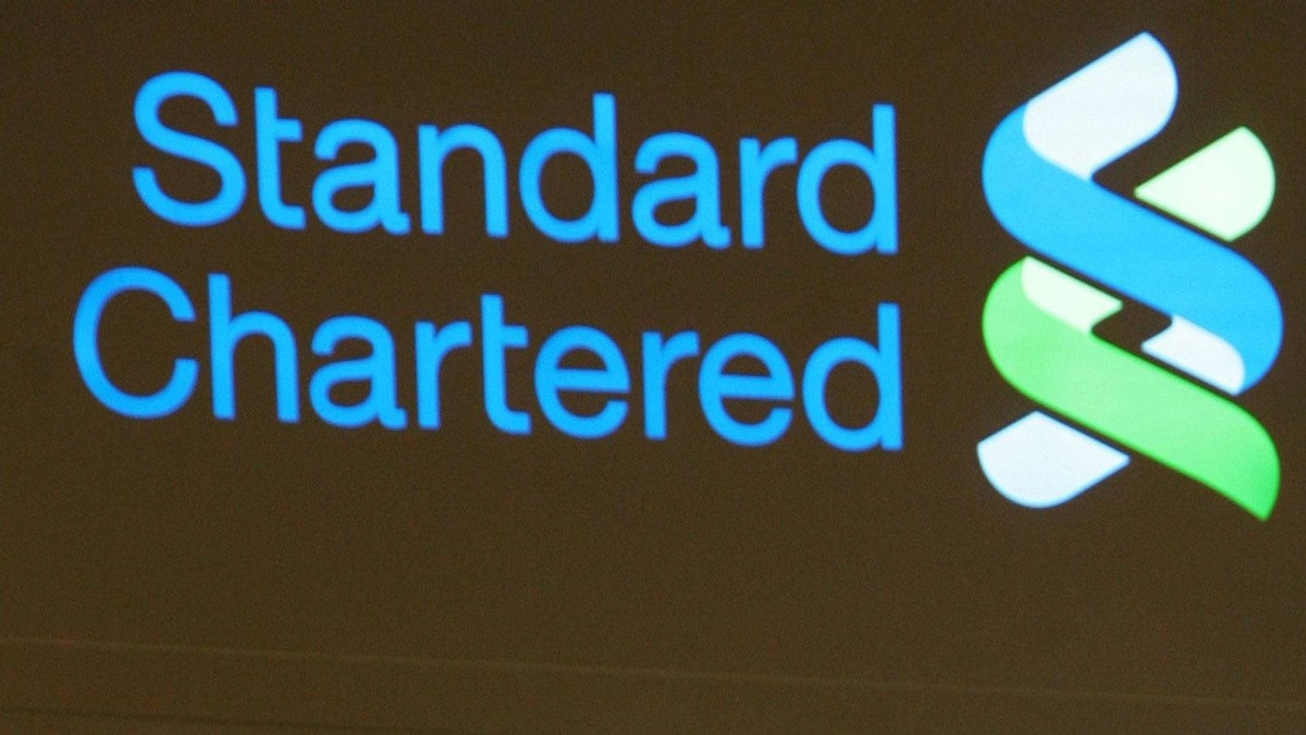 Standard Chartered Banksign in Hong Kong Aug. 8, 2005.