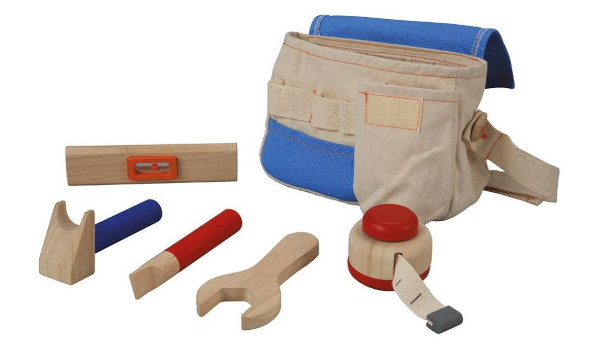 For mom and dad's little helper (boys and girls alike), nothing's cuter than a tot-sized tool belt. This wooden Plan Toys set is a step up from plastic versions, with a measuring tape, level, wrench, hammer and screwdriver in a canvas storage bag. Ages 3 and up. $29.95, ape2zebra.ca