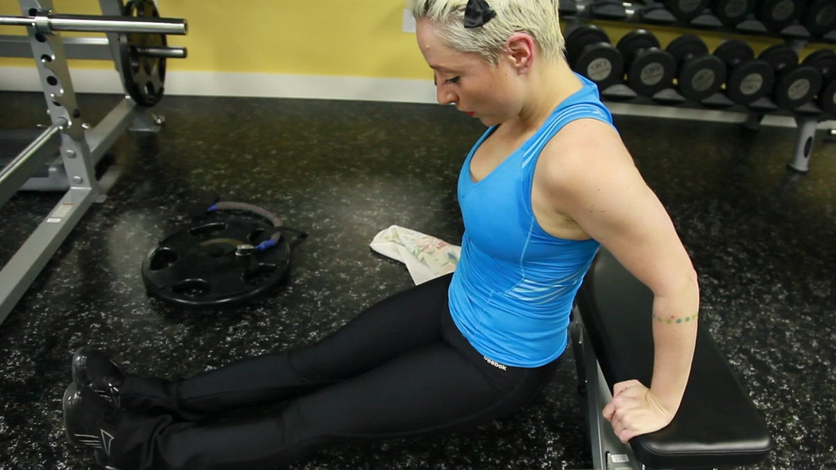 Professional blogger and fitness enthusiast Casie Stewart gets her workout on at the Toronto-based Motion Room.
