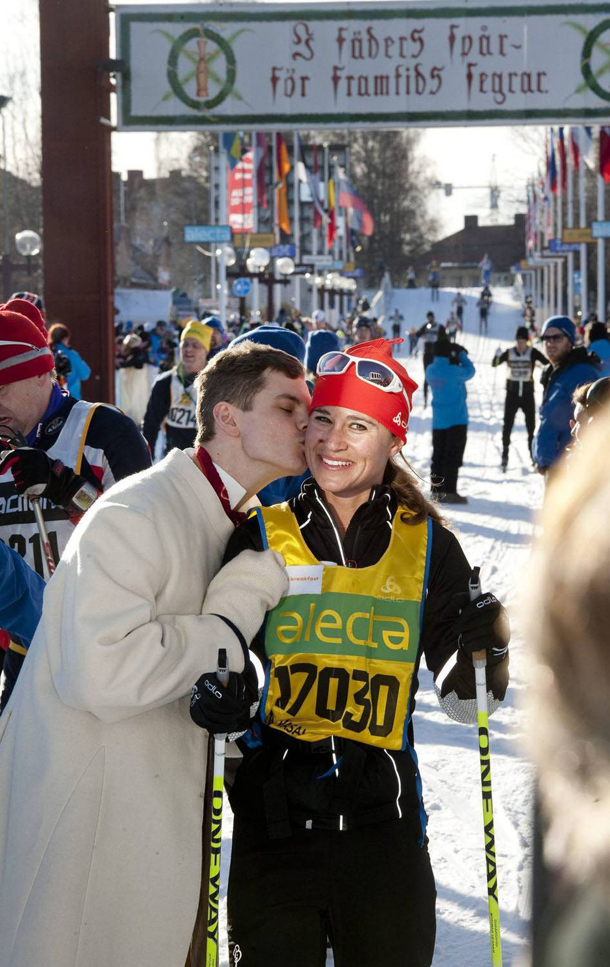 Pippa stays in shape through a range of sports, and often competes in races. In March, she finished a 90-kilometre cross-country marathon in Sweden.