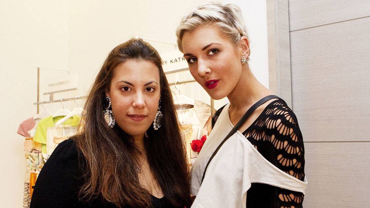 Designer Mary Katrantzou (left) and fashion writer Sarah Nicole Prickett