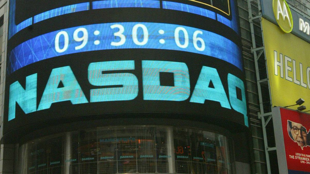 The sign outside the NASDAQ Market site is seen in this Aug. 19, 2004 file photo taken in New York. The Wall Street Journal reported on its website late Friday Feb. 4, 2011 that federal investigators are trying to identify the hackers that penetrated the market's computer network multiple times during the past year.