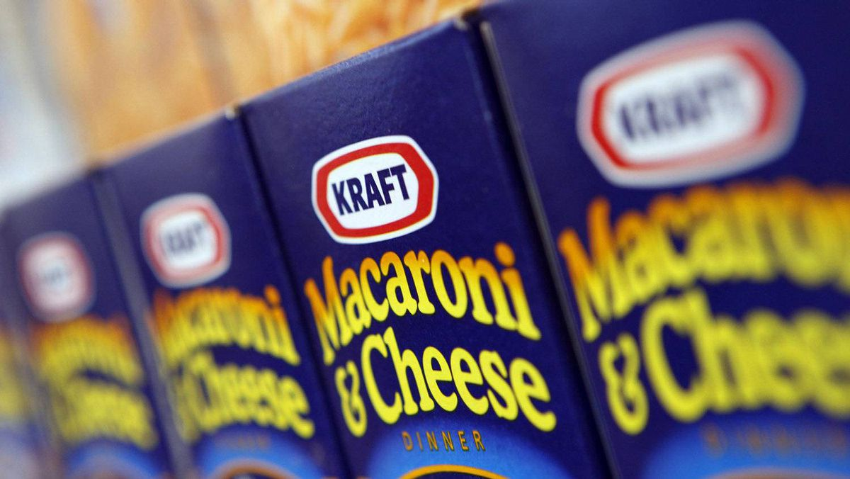 Kraft Macaroni and Cheese is displayed at the company's headquarters in Northfield, Illinois, in this February 10, 2009 file photo.