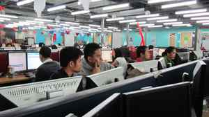 A Telus call centre in a Manila mall. The Philippines has overtaken India as the world's No. 1 call centre outsourcing country.