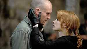 """Ralph Fiennes and Jessica Chastain in a scene from """"Coriolanus."""""""