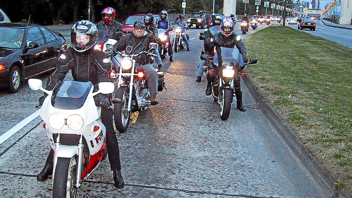Charity rides are a great chance to schmooze with other riders.