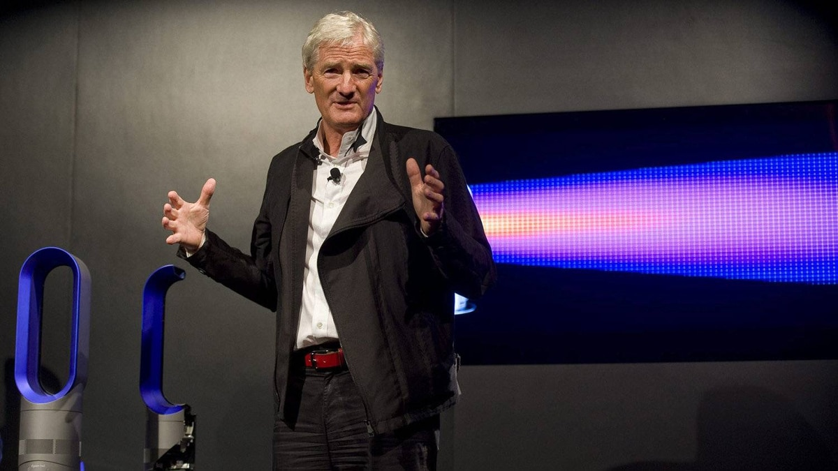 Inventor James Dyson at the launch of his new ball vacuum and heater fan in September 2011.