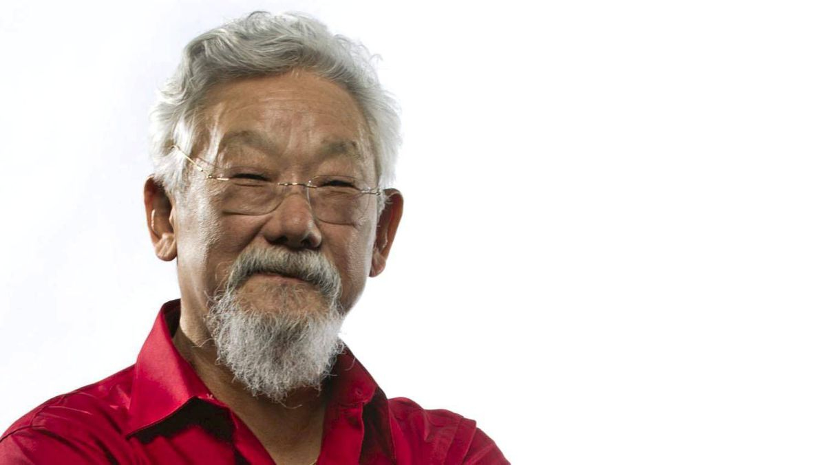 David Suzuki: 'Look at this election. It's a joke. We're not looking at the really big issues like where is Canada, where are we going in the future? Are you telling me that gun control, prisons and coalition threats are important?'
