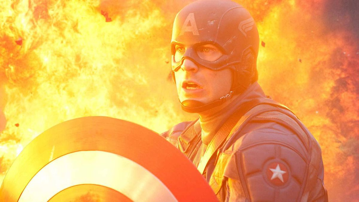 "Chris Evans in a scene from ""Captain America"""