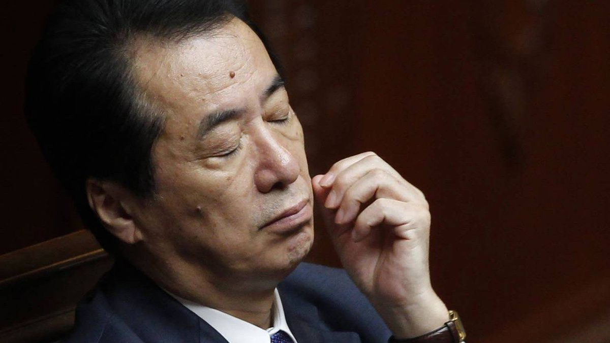 Japanese Prime Minister Naoto Kan attends a plenary session at the Lower House in Tokyo Aug. 23, 2011.