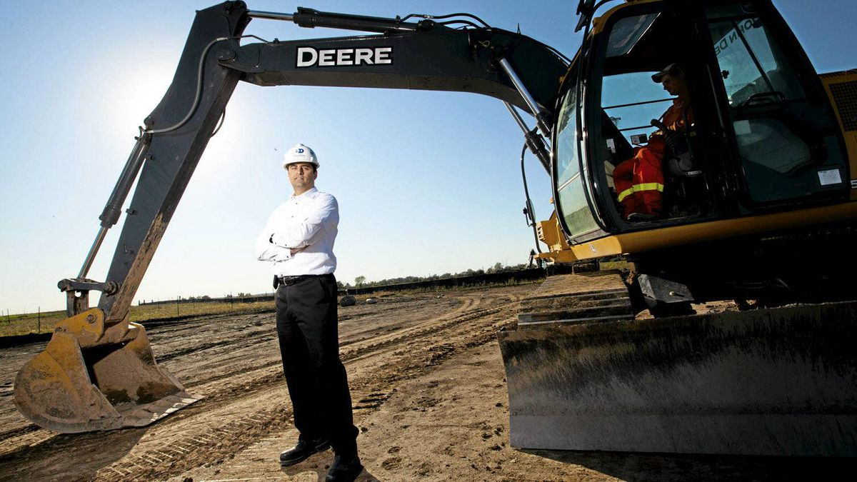 Sammy Ayoub, a senior project director with EllisDon Corporation, is seen here at the site of a future Oakville hospital.