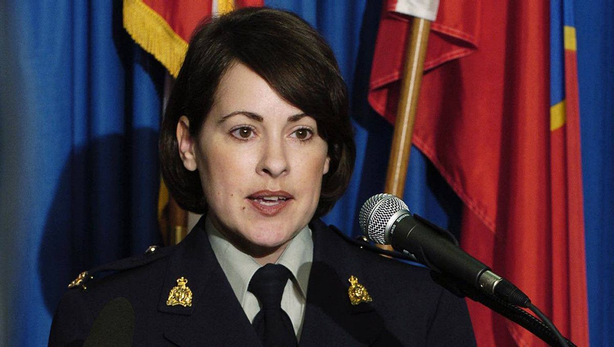 RCMP Cpl. Catherine Galliford is seen in a March 2004 files photo.