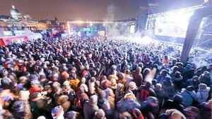 The crowd keeps warm at Montreal's Igloofest