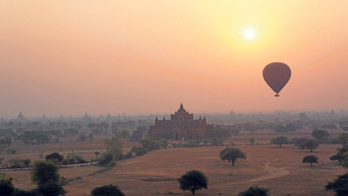 Balloons Over Bagan offers spectacular views of the ancient temples, dotting the arid, central plains. No two flights are ever the same – the balloons take you wherever the wind blows.