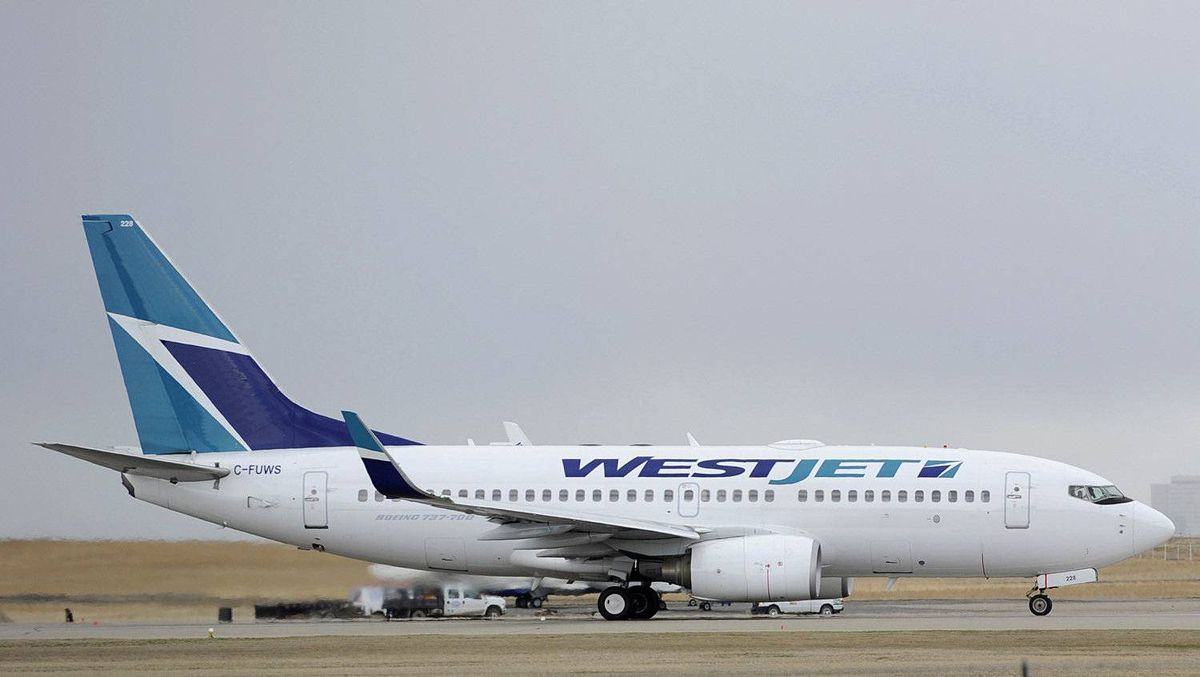 A Westjet Boeing 737-700 takes off in Calgary. At president, Regina residents booking on WestJet have to fly to Calgary, then connect on a flight to the Manitoba capital, while Winnipeggers must travel to Calgary, then board another plane to the Saskatchewan capital. ,