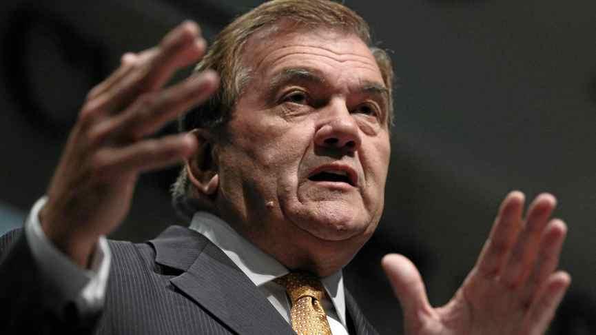 Former Homeland Security Secretary Tom Ridge speaks at the U.S. Chamber of Commerce August 17, 2011, in Washington, DC.