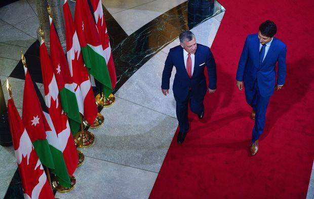 Trudeau meeting with Jordan's King Abdullah II in Ottawa today