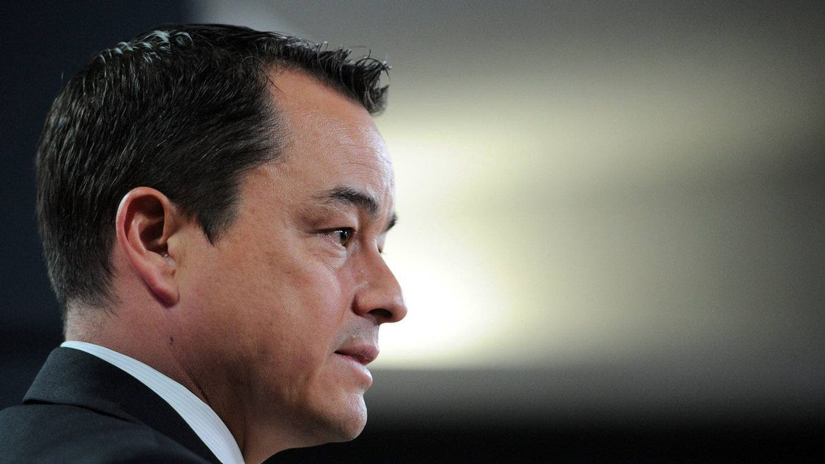 Shawn Atleo, National Chief of the Assembly of First Nations, holds a press conference following the Crown First Nations Gathering in Ottawa on Wednesday, January 25, 2012.