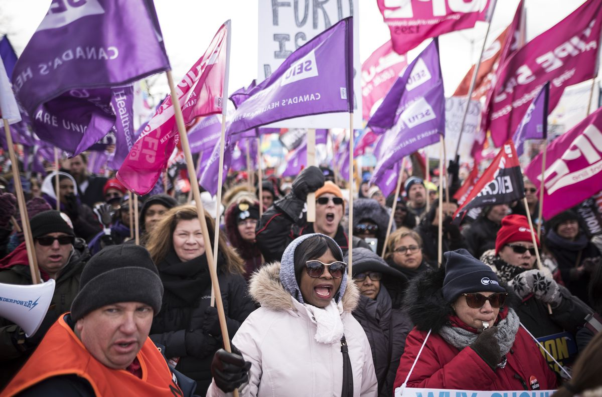 Ontario labour leader warns of potential province-wide strike as PCs convene in Niagara Falls