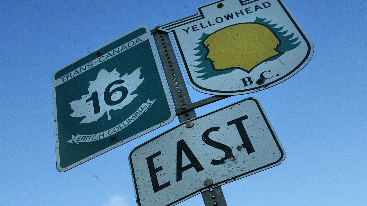 Road signs on Highway 16, also know as the Highway of Tears, just outside Smithers, B.C. John Lehmann/The Globe and Mail