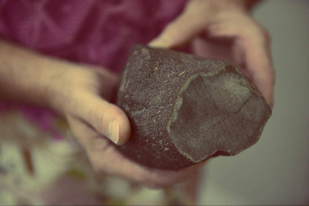 A piece of meteorite that originated from Mars.