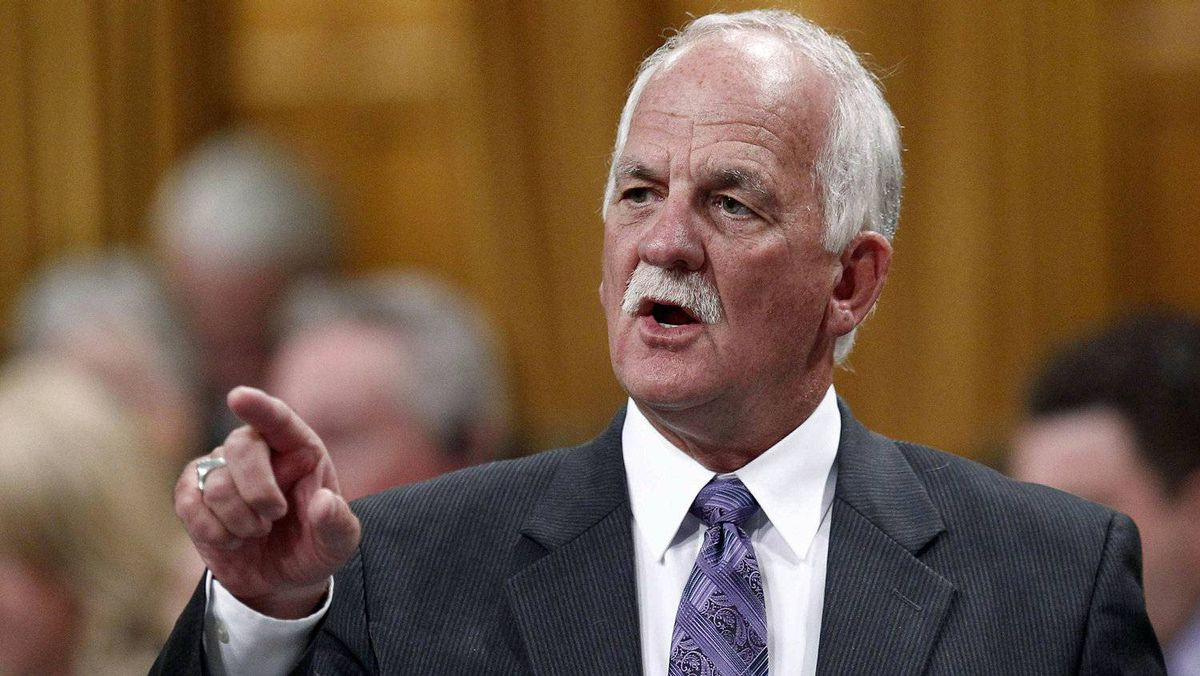 Public Safety Minister Vic Toews speaks during Question Period in the House of Commons on April 24, 2012.