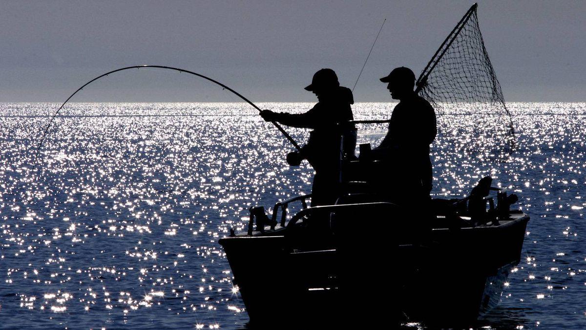 Sports fishermen in Haida Gwaii, B.C. in the summer of 2003.